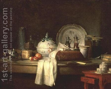 The Officers' Mess or The Remains of a Lunch, 1763 by Jean-Baptiste-Simeon Chardin - Reproduction Oil Painting
