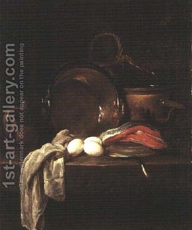 Still Life: The Kitchen Table, c.1755-56 by Jean-Baptiste-Simeon Chardin - Reproduction Oil Painting