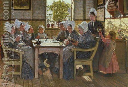 Our Poor: A Bible Reading, Chelsea Workhouse, 1878 by James Charles - Reproduction Oil Painting