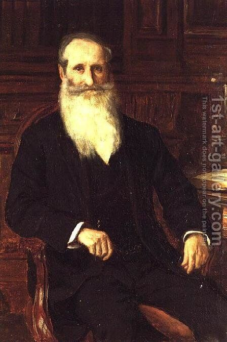 Portrait of Sir Isaac Holden by James Charles - Reproduction Oil Painting