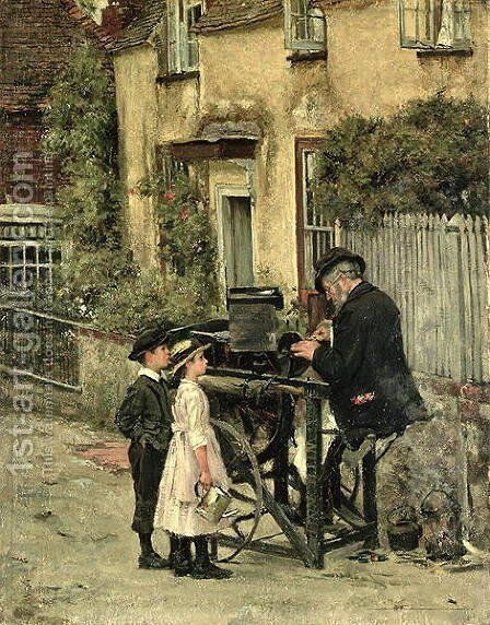 The Knifegrinder, 1887 by James Charles - Reproduction Oil Painting