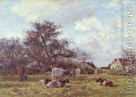 On a Sussex Farm by James Charles - Reproduction Oil Painting