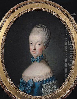 Portrait of Marie-Antoinette de Habsbourg-Lorraine (1750-93) by Jean Baptiste (or Joseph) Charpentier - Reproduction Oil Painting