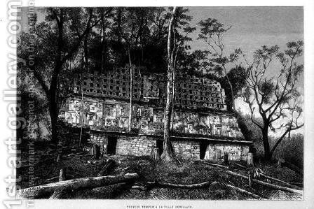 Structure 33, Yaxchilan, Chiapas, Mexico by H. Charuis - Reproduction Oil Painting