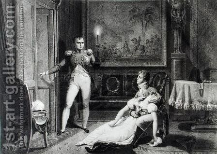 The Divorce of Napoleon I (1769-1821) and Josephine Tascher de la Pagerie (1763-1814) 30th November 1809 by Charles Abraham Chasselat - Reproduction Oil Painting