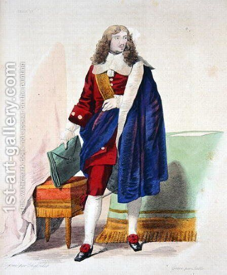 Jean-Baptiste Colbert de Torcy (1619-83), illustration from 'Le Plutarque Francais' by Charles Abraham Chasselat - Reproduction Oil Painting