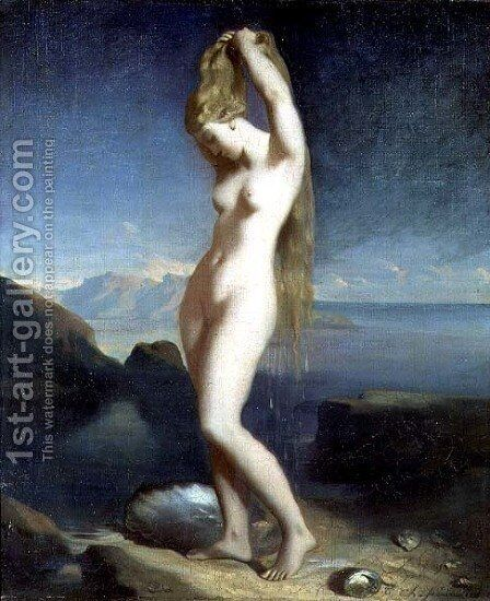 Venus Anadyomene, or Venus of the Sea, 1838 by Theodore Chasseriau - Reproduction Oil Painting