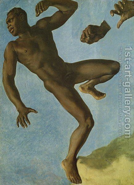 Study of a Nude Negro, 1838 by Theodore Chasseriau - Reproduction Oil Painting