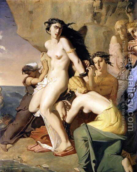 Andromeda Tied to the Rock by the Nereids, 1840 by Theodore Chasseriau - Reproduction Oil Painting