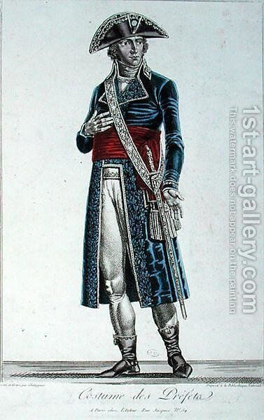 Costume of a Prefect during the First Empire, c.1800-05 by Alexis Chataigner - Reproduction Oil Painting