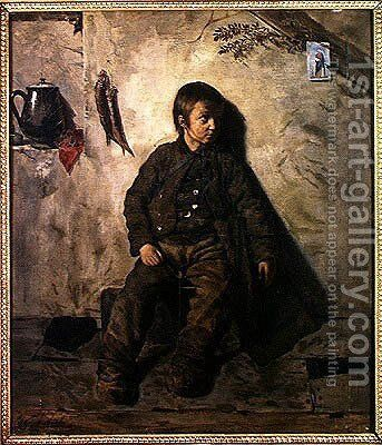 A Chimney Sweep from Savoie, 1832 by Auguste de Chatillon - Reproduction Oil Painting