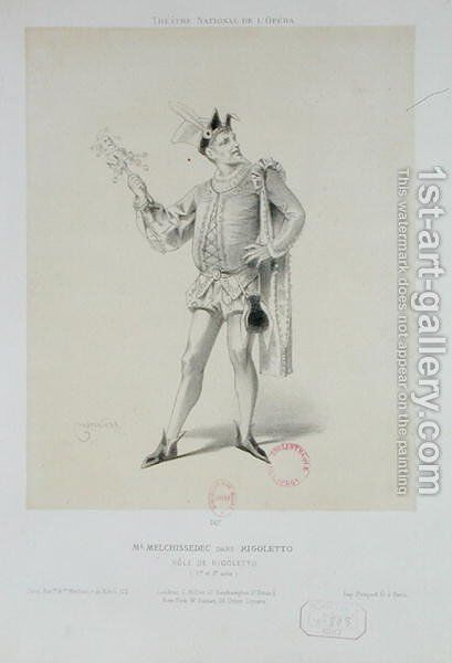 Portrait of Mr. Melchissedec as Rigoletto in 'Rigoletto' by Verdi by Antonin Marie Chatiniere - Reproduction Oil Painting