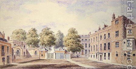 View of Whitehall Yard, 1828 by T. Chawner - Reproduction Oil Painting