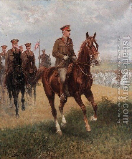 Field Marshal Haig (1861-1928) by Jan van Chelminski - Reproduction Oil Painting