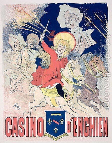 Reproduction of a poster advertising the 'Casino d'Enghien', 1890 by Jules Cheret - Reproduction Oil Painting