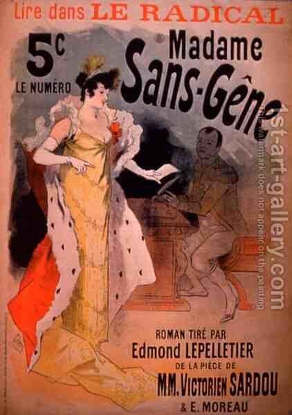 'Madame Sans-Gene' in Le Radical, by Edmond Lepelletier, taken from the play by Jules Cheret - Reproduction Oil Painting
