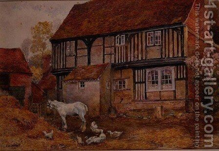 King's Farm, Chorley Wood, Hertfordshire by Elizabeth M. Chettle - Reproduction Oil Painting