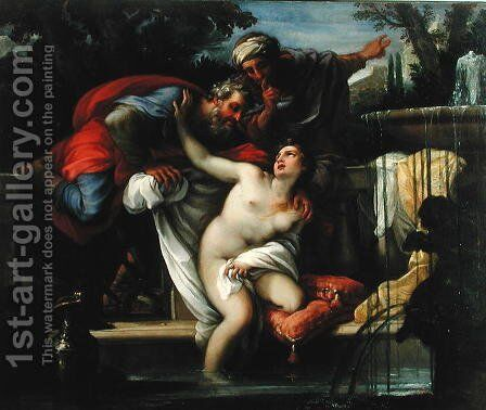 Susanna and The Elders by Giuseppe Chiari - Reproduction Oil Painting