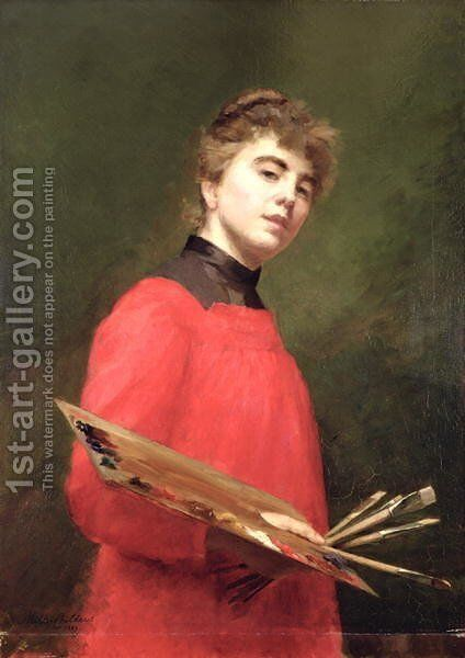 Self Portrait, 1889 by Emily Childers - Reproduction Oil Painting