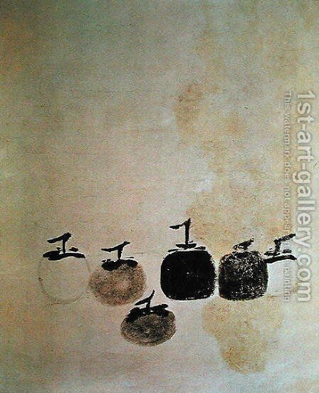 Six Kakis by Anonymous Artist - Reproduction Oil Painting