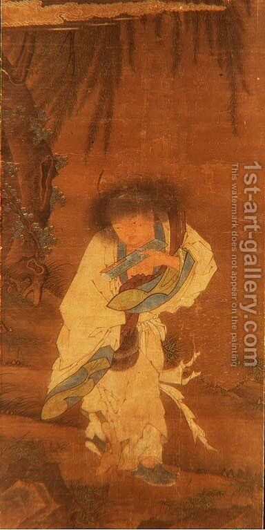 The Immortal Han Shan by Anonymous Artist - Reproduction Oil Painting