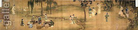 Scholars' Gathering in a Bamboo Garden (2) by Anonymous Artist - Reproduction Oil Painting