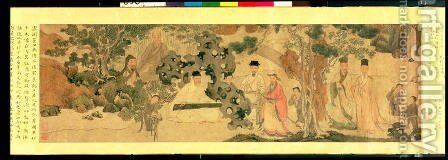 Literi Gathering in Qinglin by Anonymous Artist - Reproduction Oil Painting
