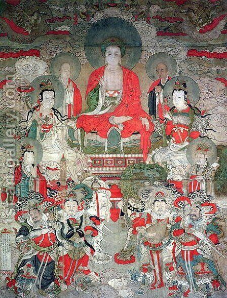 Buddhas, 1675 by Anonymous Artist - Reproduction Oil Painting