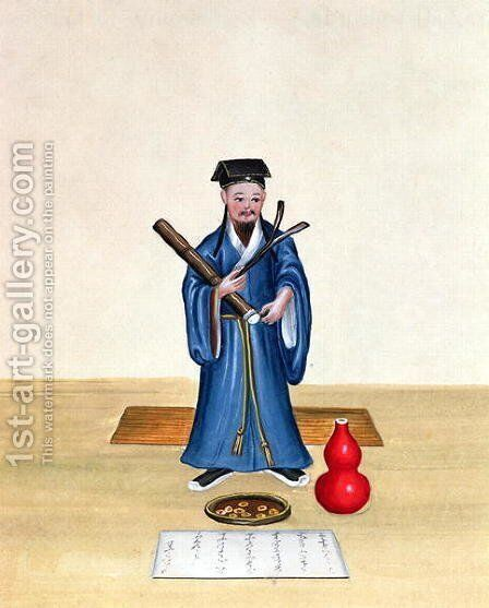 A Taoist in China, c.1785 by Anonymous Artist - Reproduction Oil Painting