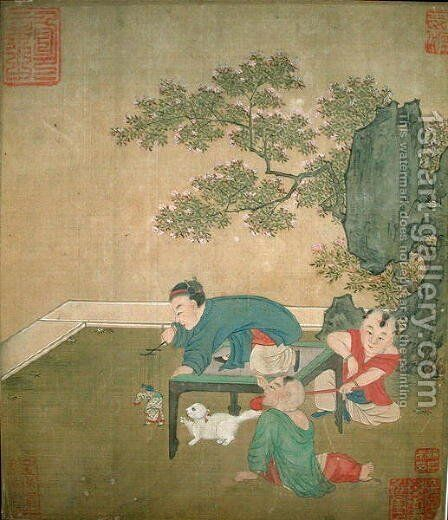 The Puppeteer, Ch'ien Lung Dynasty by Anonymous Artist - Reproduction Oil Painting