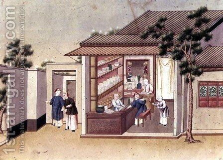 Porcelain Shop by Anonymous Artist - Reproduction Oil Painting