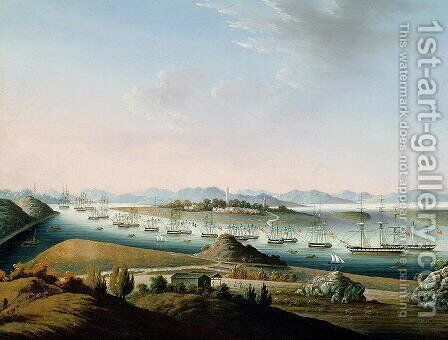 View of Whampoa, c.1840 by Anonymous Artist - Reproduction Oil Painting