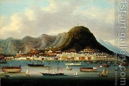 A View of Hong Kong by Anonymous Artist - Reproduction Oil Painting