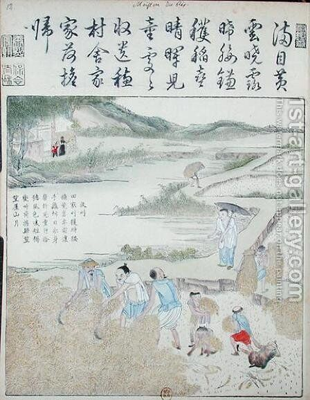 Harvest, The Rice Culture in China by Anonymous Artist - Reproduction Oil Painting