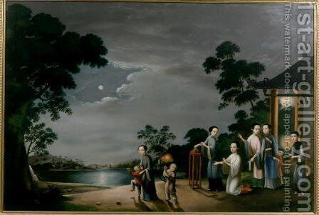 Mid-Autumn Moon Festival, c.1800 by Anonymous Artist - Reproduction Oil Painting