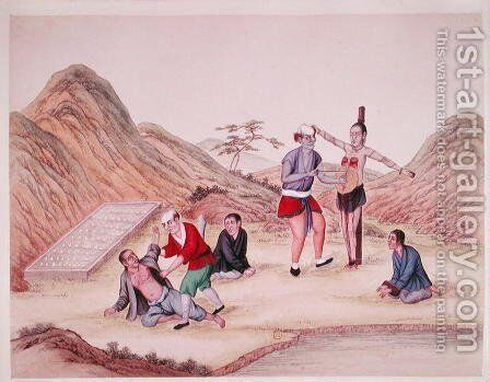 Methods of punishing criminals in China by Anonymous Artist - Reproduction Oil Painting