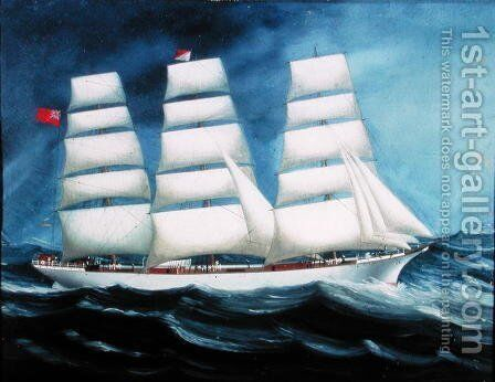 The 'Ben-Lee' at Sea by Anonymous Artist - Reproduction Oil Painting