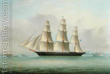 A Sea Witch Clipper by Anonymous Artist - Reproduction Oil Painting