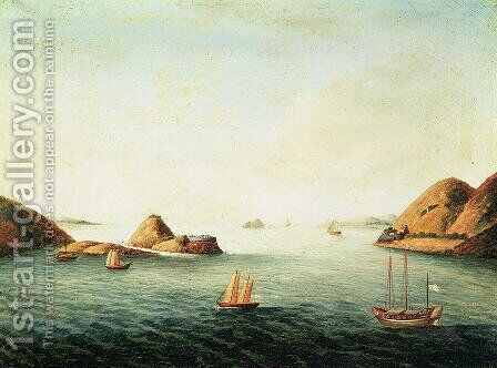 Tiger's Mouth, Canton, China, c.1815 by Anonymous Artist - Reproduction Oil Painting