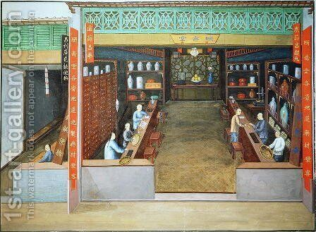 Chinese Medicine, c.1830 by Anonymous Artist - Reproduction Oil Painting
