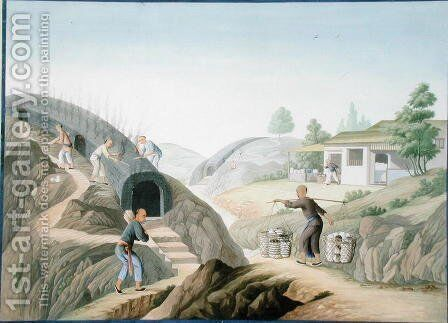 Manufacture of Porcelain: Firing the Dragon Kiln by Anonymous Artist - Reproduction Oil Painting