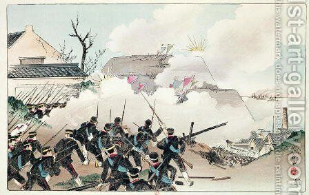 The Battle of Port Arthur, c.1894 by Anonymous Artist - Reproduction Oil Painting