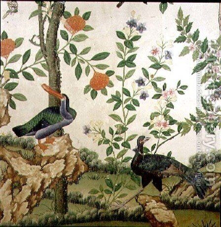 Bird Wallpaper, c.1840 (1) by Anonymous Artist - Reproduction Oil Painting