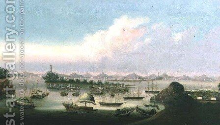 Whampoa Anchorage by Anonymous Artist - Reproduction Oil Painting
