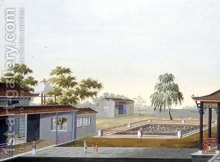 Walled Garden, c.1820-40 by Anonymous Artist - Reproduction Oil Painting
