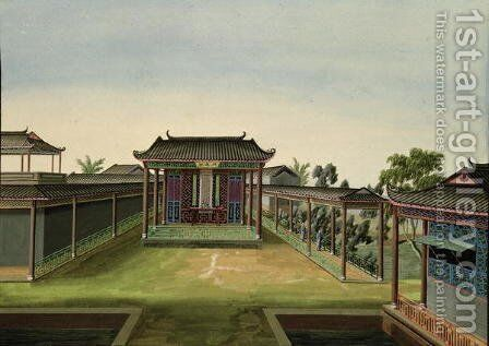 Garden Scene, c.1820-40 (3) by Anonymous Artist - Reproduction Oil Painting
