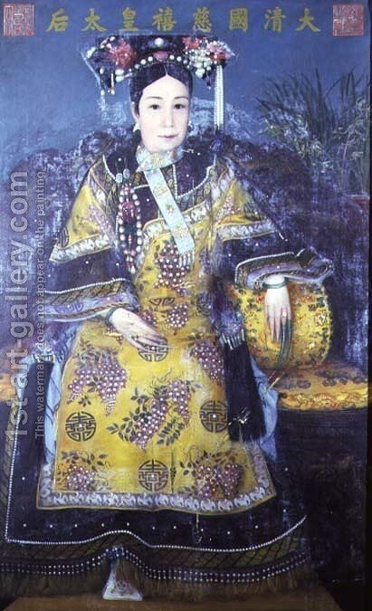 Portrait of the Empress Dowager Cixi (1835-1908) (2) by Anonymous Artist - Reproduction Oil Painting