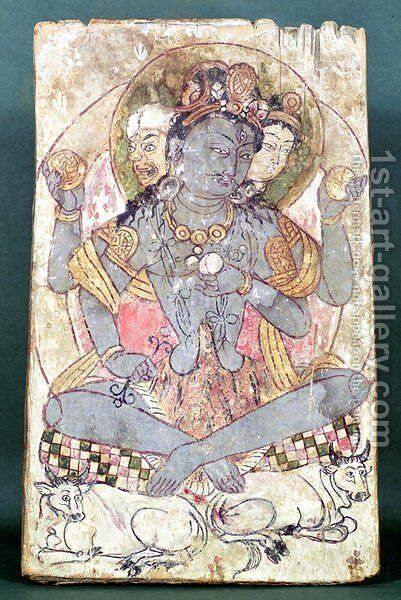 Shiva from Dandan-Uiliq, Khotan, c.500-527 BC by Anonymous Artist - Reproduction Oil Painting