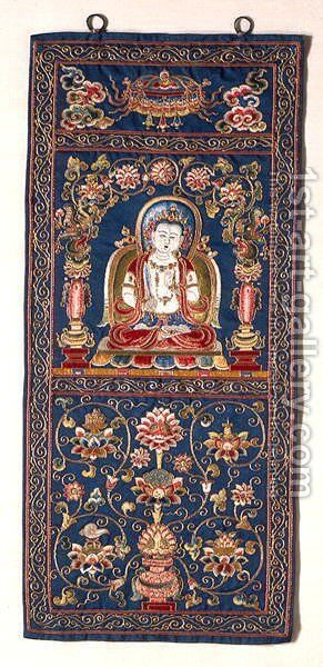 Bodhisattva of Wisdom by Anonymous Artist - Reproduction Oil Painting