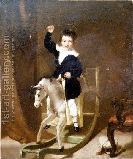The Young Huntsman by (circle of) Chinnery, George (1774-1852) - Reproduction Oil Painting
